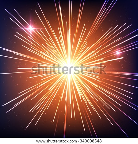 Supernova explosion/Supernova explosion/Supernova explosion - stock vector