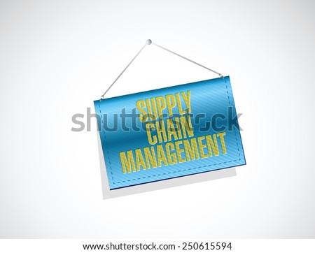 supply chain management banner illustration design over a white background - stock vector