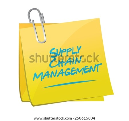 supply chain management memo post illustration design over a white background - stock vector