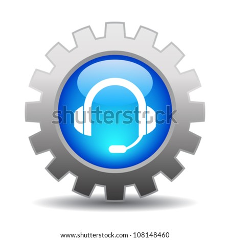 Support icon, eps10 vector illustration - stock vector