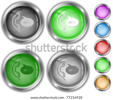 Support. internet buttons. - stock vector
