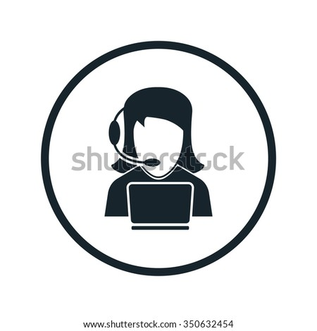 Support manager icon - stock vector