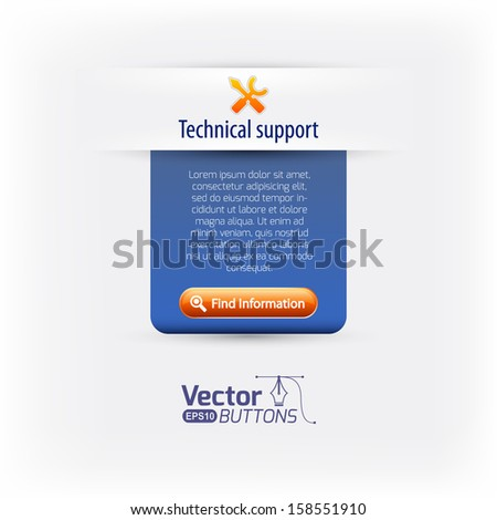 Support web navigation - stock vector