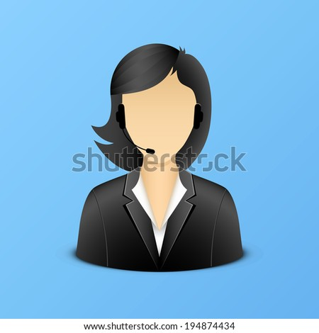 Support woman assistant illustration eps 10 - stock vector