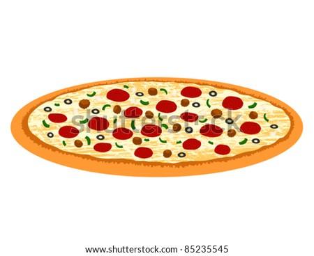 Supreme Pizza - Vector Illustration - stock vector