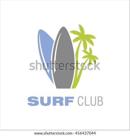 Surf club - stock vector