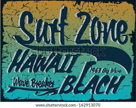 Surf Print Vector - stock vector