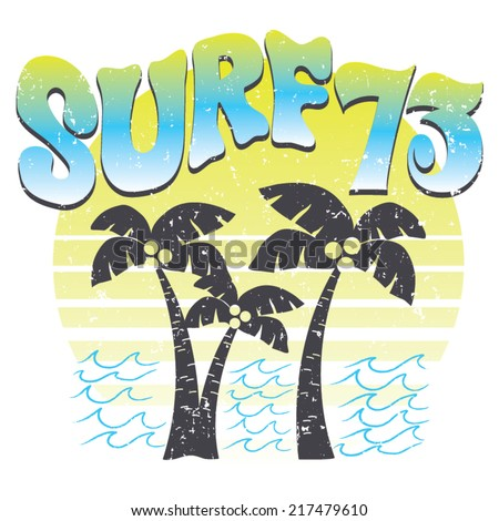 Surf 73 Retro TShirt Screen