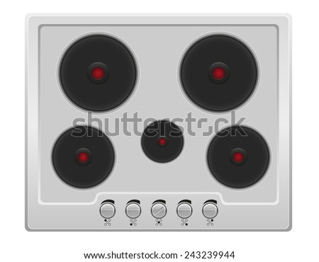 surface for electric stove vector illustration isolated on white background - stock vector