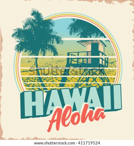 surfer vector set.vintage surf elements.Long beach surf story vector element. beach retro vector print. palm tree. hawaii - stock vector