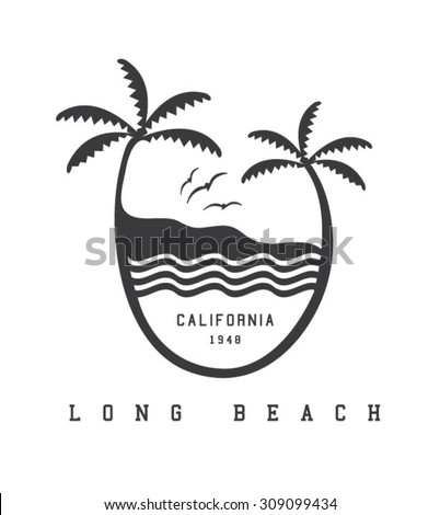surfing artwork for clothing 7 - stock vector