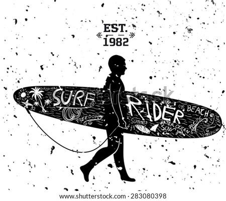 Surfing Design - stock vector