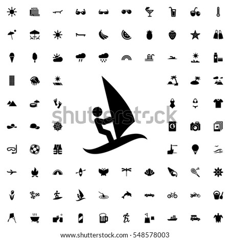 surfing icon illustration isolated vector sign symbol