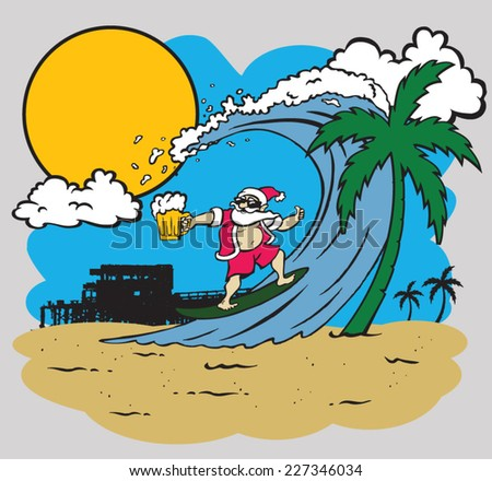 Surfing Santa Stock Photos, Royalty-Free Images & Vectors ...