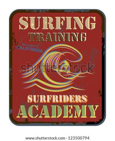 Surfing Training abstract, vector illustration - stock vector