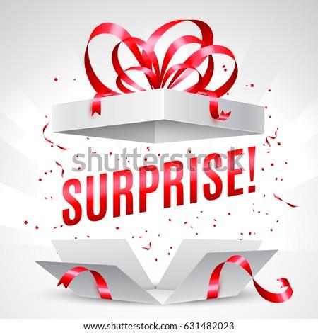 surprise gift box stock vector 631482023 - shutterstock