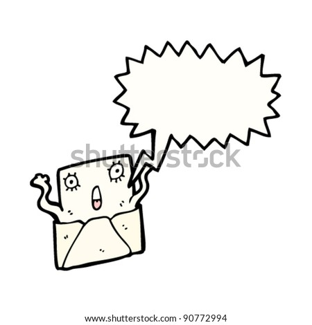 surprised letter cartoon