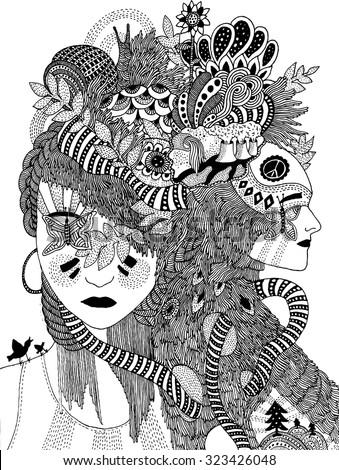 surreal illustration - stock vector