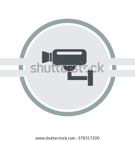 Surveillance camera (CCTV). Warning vector icon. - stock vector
