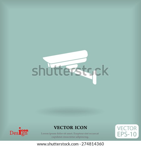 surveillance camera vector icon