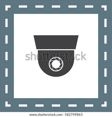 Surveillance Vector Icon Security Camera Symbol Stock Vector