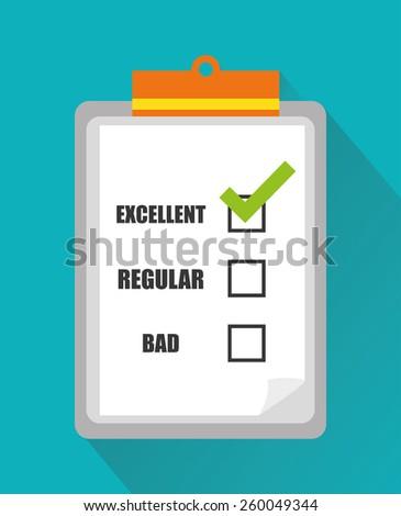 Survey design overwhite background, vector illustration. - stock vector