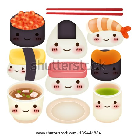 Sushi Collection - Vector File EPS10 - stock vector