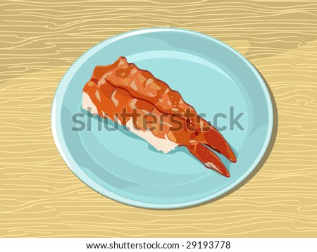 sushi (editable layers) - stock vector