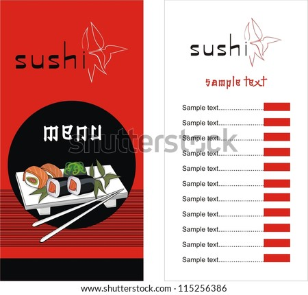 Sushi menu template vector illustration stock vector 115256386 sushi menu template vector illustration pronofoot35fo Choice Image