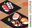 Sushi set, EPS10 vector - stock vector