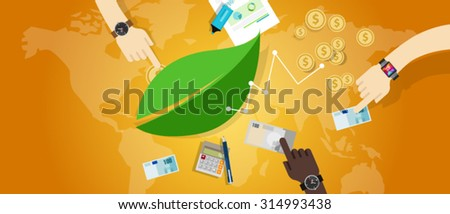 sustainable business eco freindly corporate responsibility  - stock vector