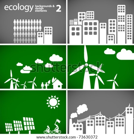 sustainable development concept - ecology backgrounds & elements 2 // see also others from this series in my portfolio - stock vector