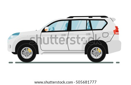 suv car isolated on white background vector suv car sport utility vehicles cartoon car