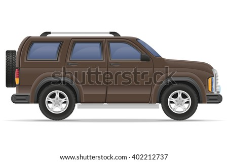 suv car vector illustration isolated on white background