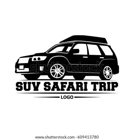 Off Road Extreme Suv Safari Trip Stock Vector Shutterstock