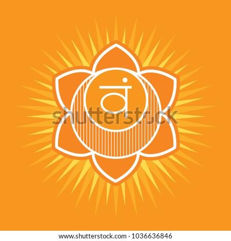 Svadhisthana Second Primary Chakra Vector Square Stock Vector Hd