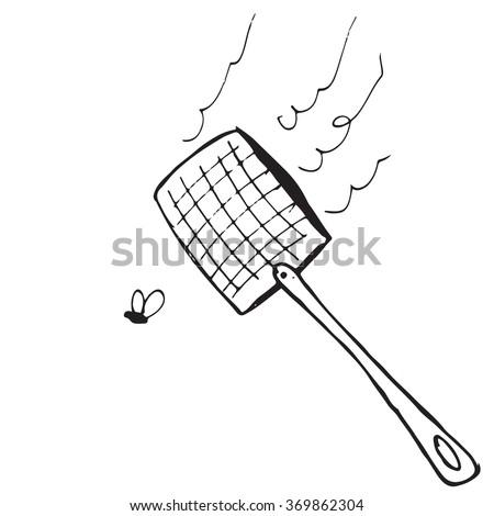 Swatter doodle - stock vector