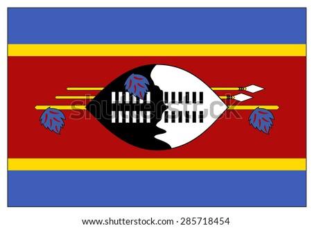 Swaziland flag - stock vector