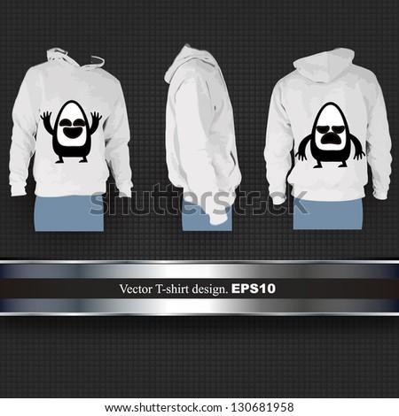 sweat t shirt with a cartoon. vector design - stock vector