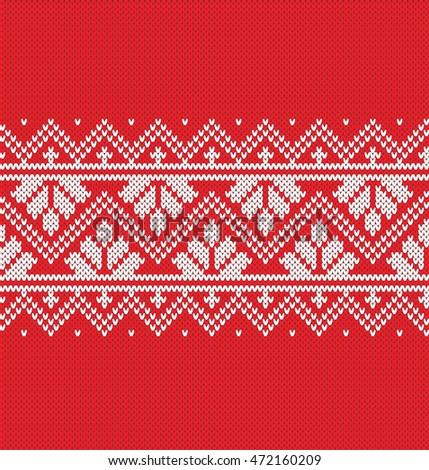 Sweater Fairisle Design Seamless Knitting Pattern Stock Vector ...