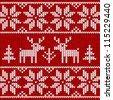 Sweater with deer - stock vector