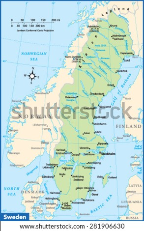 Sweden Map Outline Vector Stock Images RoyaltyFree Images - Sweden map of country