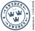 Sweden stamp - stock photo
