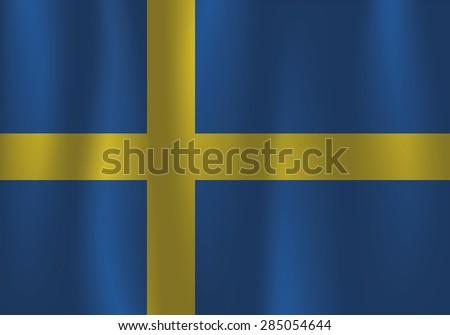 Sweden waving flag - stock vector