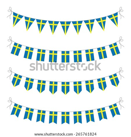 swedish bunting - stock vector