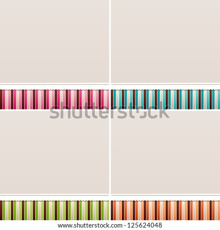 Sweet backgrounds. - stock vector