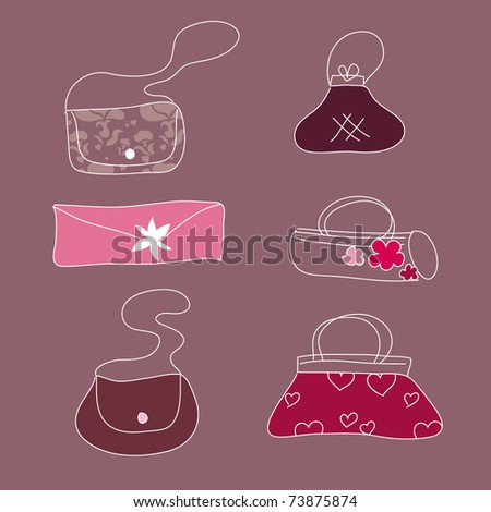 sweet bags - stock vector