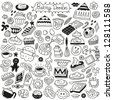 sweet baking doodles - stock vector