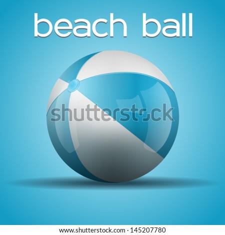 Sweet beach ball - stock vector