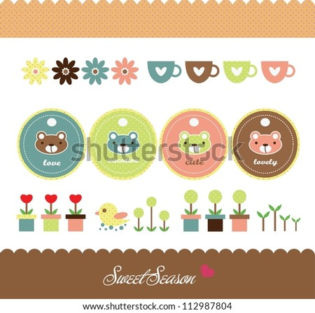 sweet bear design - stock vector
